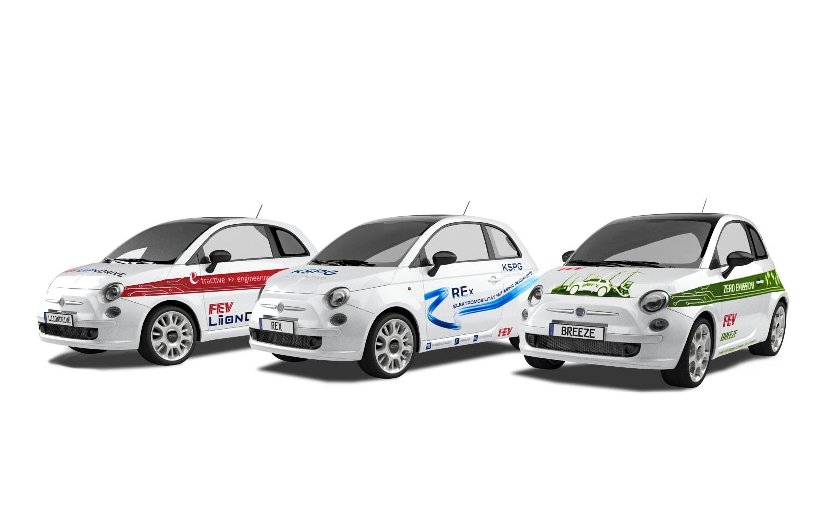 Alternative Antriebe - FEV Flotte (Fiat 500)
