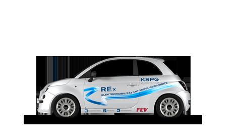 Antriebe - Range Extender (Fiat 500)